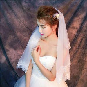 Véus Atacado de alta qualidade fotos reais Roxo Branco Véus de noiva marfim boa Tulle com borboleta rápido envio gratuito de fora Veils