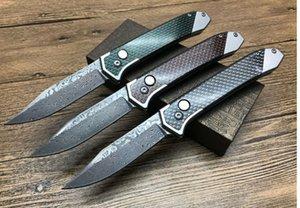 Muy recomendable Thomas Damascus Fluorescente Mango de carbono para acampar cuchillo de caza banco plegable ZT cuchillo 1 unids envío gratis