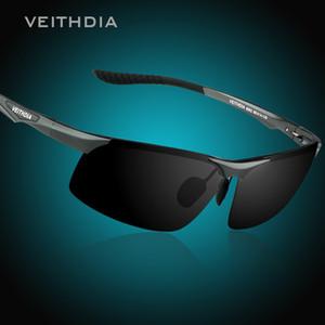 VEITHDIA 알루미늄 마그네슘 남성 편광 선글라스 야간 시계 거울 남성 안경 선글라스 고글 오큘 로스 남성용 6502