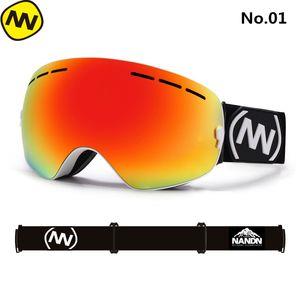 Оптовая лыжные очки Сноуборд большой сферически объектив профессионального дважды приобрести противотуманные лыжные очки для мужчин женщин