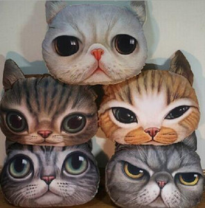 Creative Cartoon decorative pillow Cat Cushion Cat Dog Nap Pillow Cushion and Washable Waist Pillow Cute seat cushion HJIA897