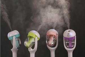 nEW Humidificador de enchufe del coche USB Fresco refrescante fragancia ehicular aceite esencial humidificador ultrasónico Difusor de coche niebla Aroma (WT102)