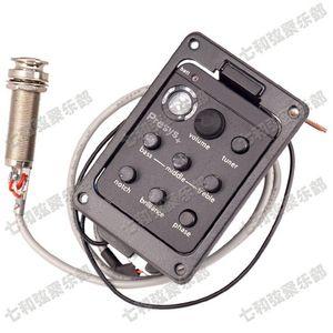 201 Çift Mod Gitar Preamp EQ Tuner Piezo Pikap Ekolayzır Sistemi Ile Mikrofon Yendi Kurulu Stokta gitar parçaları Enstrüman