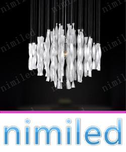 nimi1015 블랙 / 레드 / 화이트 모던 한 유리 하이브리드 형 계단 호텔 로비 대형 샹들리에 펜던트 라이트 조명기구 다이닝 룸 램프