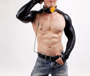Sexy Männer Sexy Pu Kostüm Dessous Faux Leder Bodysuit Wild Dance Kleidung DJ Erotic Shirt Dessous X6631