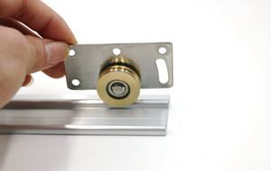 2 parti mobili caster inossidabile semipuleggia nylon puleggia armadi armadio classificatore puleggia scorrevole ruota porta