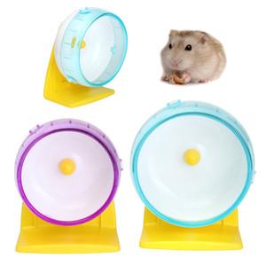 Alta calidad de plástico silencioso Hamster Ratón Ratones Ratón Ejercicio Correr Spinner Wheel Pet Toy