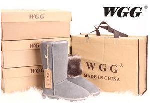 Fornitura Drop Shopping Nuove donne di moda ragazze stivali da neve stivali invernali scarpe calde stivali di pelliccia di pelle originale di alta qualità dimensioni eur36-41