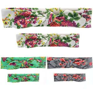 Multicolor Mère et filles bébé tissu noeud arc bricolage bandeau mode motifs floraux hairband accessoire look correspondant de famille
