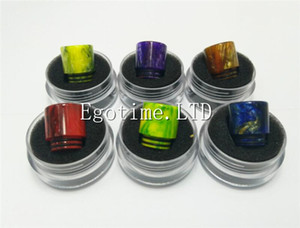 Epoxy Resin drip tip Colorful Wide Bore drip tips 810 Mouthpiece for TFV8 Tfv8 Big Baby Tfv12 Tank with Retail Package DHL