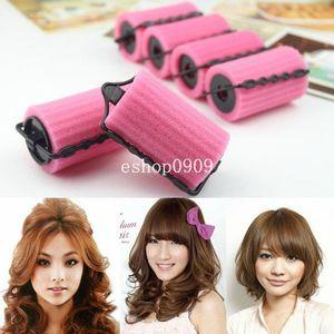 Dettagli su New Magic Foam Rollers Sponge Hair Styling Soft Bigodini Twist Set di strumenti fai da te # R8534