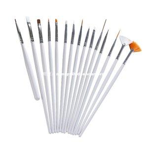 Оптовая 15PCS Nail ручки UV Gel Дизайн Живопись Art Brush Набор для салона маникюра DIY инструмент