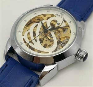 IPS Comprar Assista Loja Online de Compras Linda Menina De Couro Relógio Mecânico Automático Oco Relógio De Moda De Luxo Quente