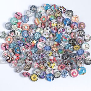 Para accesorios de joyería 18 mm Botón DIY Collar Pretty Ginger Snap Rhinestone Glass Jewelry Cuero Barato para Charms Wholesale Bracele Piid