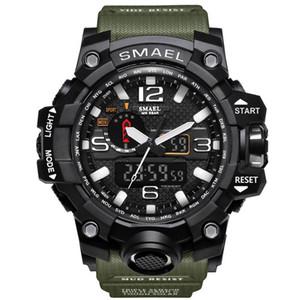 2017 NOUVEAU Numérique Double Affichage Cadran Rond Grande Eau Resistan Wristwatch Schoole Hommes Sport Smael Montre Drop Shipping