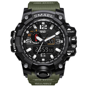 2017 NEUE Digital Dual Display Runden Zifferblatt Große Wasser Resistan Armbanduhr Schoole Männer Sport Smael Uhr Drop Shipping
