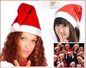 DHL Envío gratis Navidad Cosplay Sombreros Grueso Ultra Suave Felpa sombrero de Papá Noel 26 * 35 cm Adulto lindo Navidad gorro de Navidad Suministros 000