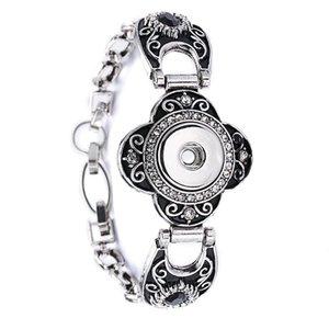 10 Pz stili misti intercambiabili 18mm delle donne vintage fai da te fascino pulsante pulsante bracciali bracciale stile noosa gioielli