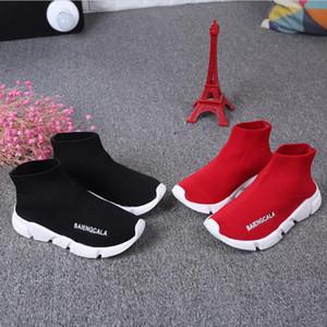 Дешевые спортивная обувь малыш Детская обувь Детские кроссовки сапоги мальчик девочки трикотажные спортивные носки обувь 1648