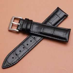 14mm 16mm 18mm 20mm 22mm Genuine Leather Watchband Croco Pattern Watch Band Bracelet Strap Black Watchbands Universal Men Women