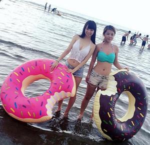 48 pulgadas dulce postre gigante piscina flotadores adulto súper grande gigante buñuelo piscina inflable salvavidas anillo de la natación anillo b701