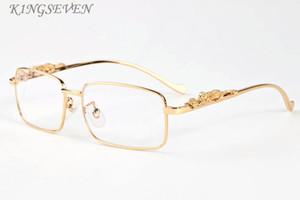 2020 populäre Art und Weise Sport polaroid Sonnenbrillen für Herren Frauen kühlen Gold-Silber-Leopardenmuster Metallrahmen schwarz grau klare Linse randlos