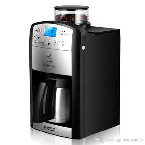 DCM-208 Vollautomatische American Coffee Maker Haushaltsbüro 1-10 Tassen Kaffee Maschine Schleifen Bohnen Timing Kaffeemaschine