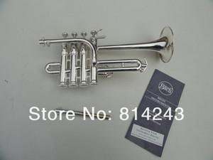 Meilleur US Bach B Piccolo trompette argenture Trompeta Trois Tone Trumpete Monel piston avec des gants de Embouchure durables Box