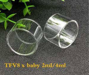 Стеклянная трубка Pyrex замена стеклянный рукав трубки 2 мл 4 мл емкость для TFV8 х детские танк атомайзеры DHL бесплатно