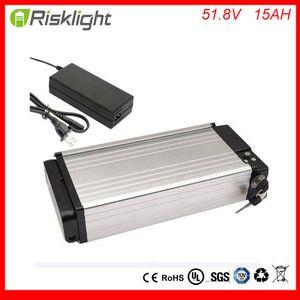 New Arrival 14S Rear rack battery 52V 15Ah eBike Batteries 51.8V 15Ah e-bike battery for 8fun 48v 750w 1000w 1200w Bafang motor