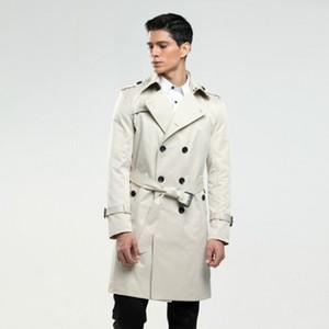 6XL de taille trench-coat hommes-tailleur sur mesure de l'homme en Angleterre à double boutonnage à long pois trench-coat slim fit classique trench en cadeau