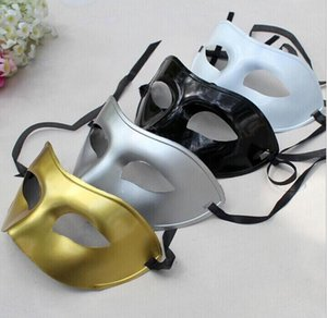 Masquerade Masque Déguisement Masques Vénitiens Masquerade Plastique Demi Masque Vénitien Masques pour Hommes En Option Multi-couleur
