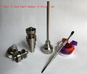 Set di strumenti per unghie in titanio GR2 Set di strumenti in vetro per bong Domeless 6 in 1 con cappuccio in carb