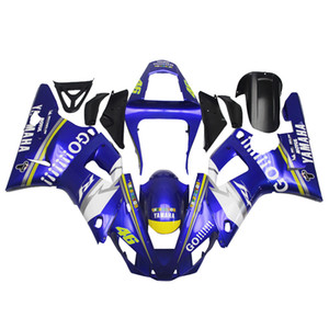 3 free gifts Complete Fairings For Yamaha YZF 1000 YZF R12000 2001 Injection Plastic Motorcycle Full Fairing Kit Blue White u1