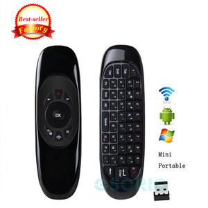 C120 Giroscópio Fly Air Mouse Receptor USB 3 Eixo Sensor de Jogo Handgrip para Android Caixa Inteligente 2.4G Sem Fio Controle Remoto Jogo Mini Teclado