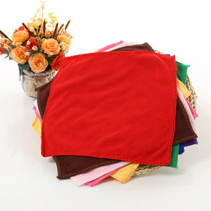 25*25cm Microfiber Towel Car Cleaning Wash Dry Clean Cloth Candy Color Hand Face Towel Small