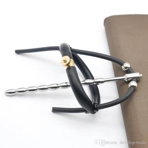 최신 전기 쇼크 섹스 토이 실리콘 페니스 링 카테터 Urethral 음 경혈 남성 전기 자극 A301에 대한 성관계 제품