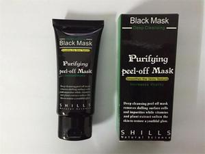 2017 Black Suction Mask Anti-Aging 50ml SHILLS Deep Cleansing Purifying Peel Off Black Face Mask Remove Blackhead Peel Masks