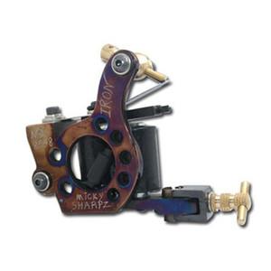 문신 기계 핫 전문 수제 문신 기계 소매 또는 도매 10 랩 코일 기계 무료 배송