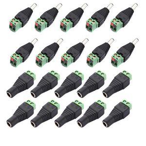 Beförderung! 10 Paar Männlich und Weiblich 2,1x5,5mm DC Power Stecker Adapter Stecker Jack Für CCTV