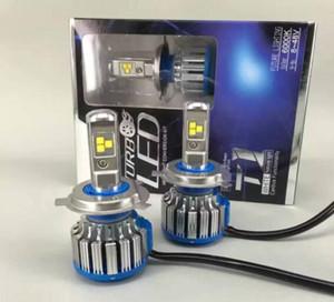 1 takım 80 W 7000LM CREE çip TURBO T1 H4 LED FAR Düşük / Hi 6000 K dönüşüm Araba LED Kiti Farlar