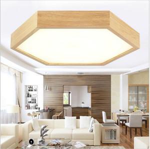Современные минималистские деревянные светодиодные потолочные светильники с шестигранной струйной головкой Потолочные светильники Утопленные светильники светодиодные светильники светильники