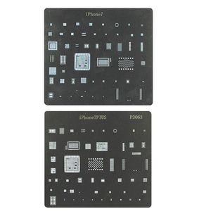 Iphone 7 ve Iphone 7 Artı Doğrudan Isıtma BGA Reballing Stencil Bitki Kalay Mesh Onarım Kaynak Araçları