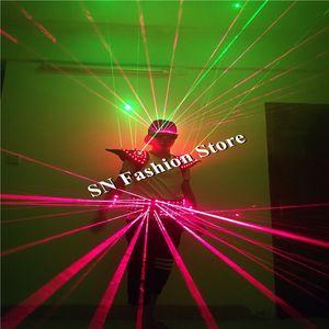 T26 Balllroom show de dança levou trajes partido dj cintos a laser óculos de luz vermelha verde terno do laser robô stage usa bar clube roupas