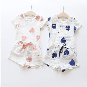 Baby Summer Clothing Sets Girls Floral Short Sleeve T-shirt Short Pants Kids Casual 2 piece suit Cute Bow Shorts Children Clothes