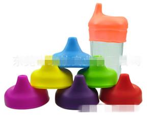 Sippy silicone tampa do copo de canudinho bebê copos sippy sem vazamentos para o bebê freeship via DHL fedex sf atacado