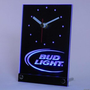 Gros-tnc0470 Bud Light Beer Bar LED 3D Table Horloge de bureau