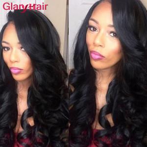 최고의 Glary 헤어 공급 업체 처리되지 않은 저렴한 Remy 브라질 인간의 머리카락 바디 웨이브 Hair Weaves 4/5/6 개 100g 번들 색상 검정