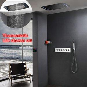 욕실 샤워 세트 강우량, 폭포, mistfall 및 거품 욕실 recessed ceiling rainfall THERMOSTATIC 샤워 세트