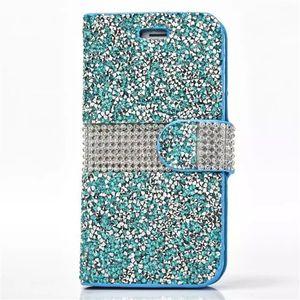 Bling Glitter Diamond Flip Funda de cuero Crystal Rhinestone Wallet Case para iPhone X XS Max Xr 8 7 Plus Sumsung S8 Plus S7 Edge J720